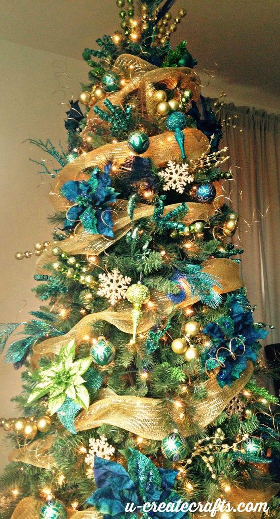 我们正在制作孔雀圣诞树作为年度迈克尔斯梦幻树挑战赛的一部分 - 我们今年的主题是什么?美丽的孔雀!