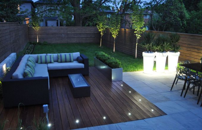 Romantic outdoor seating area