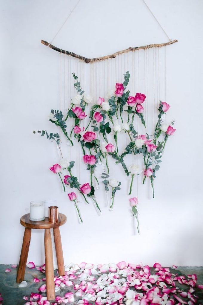 DIY花瓶壁挂(使用玫瑰和桉树!)|一对和备用