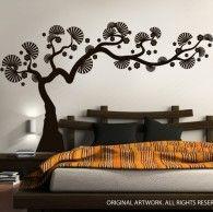 从Decalmywall.com获取现代盆景树墙贴花和其他树墙贴花?高品质乙烯基墙贴的独家在线商店。