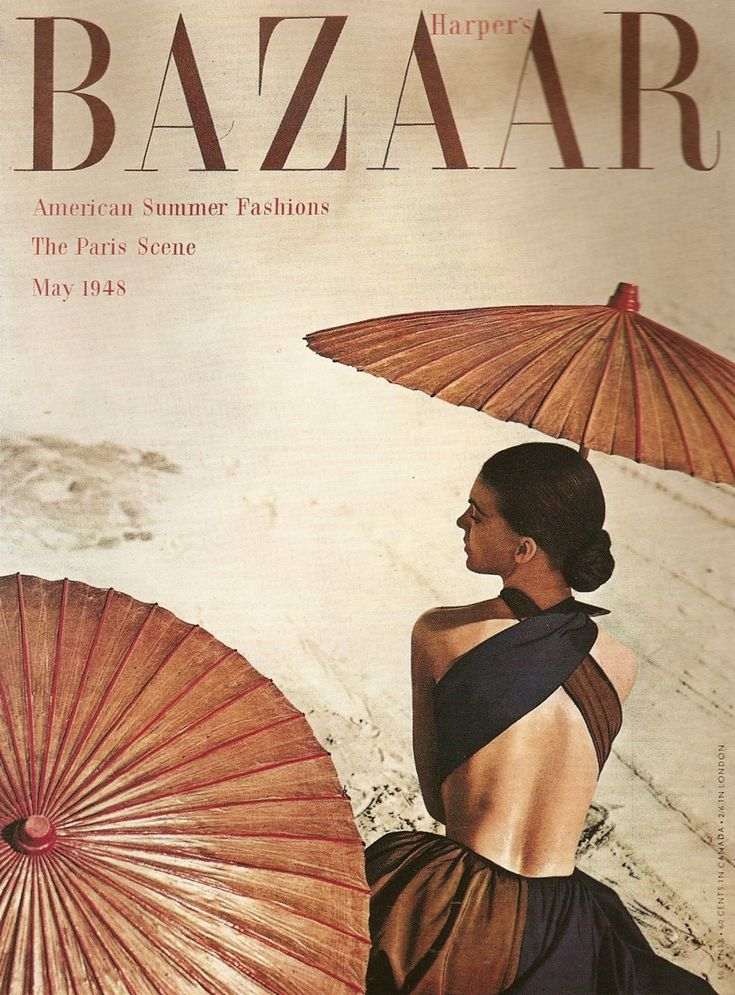 Harper's Bazaar Cover Art Direction, Alexey Brodovitch, May 1948.
