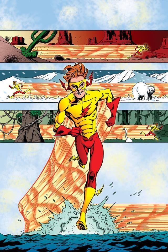 Wally West Kid Flash Art by Edward Whatley