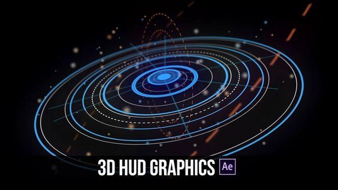 After Effects  - 高级3D HUD运动图形教程