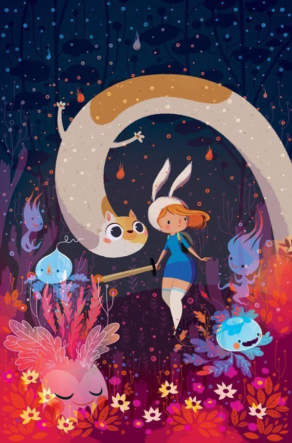 Fionna and Cake - Cover by Lorena Alvarez Gómez, via Behance #illustration