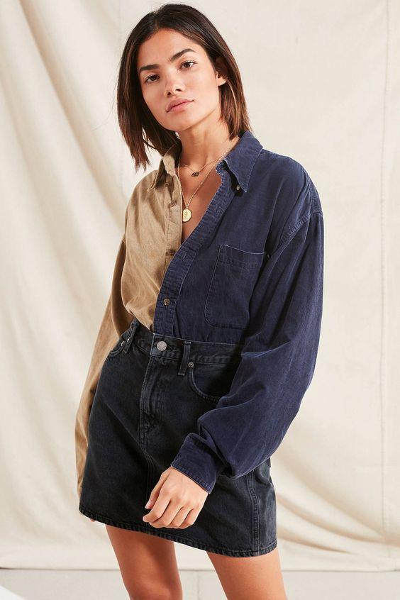 今天在Urban Outfitters店铺市区更新再生拼接灯芯绒衬衫。我们为您提供所有最新的款式,颜色和品牌,从这里选择。