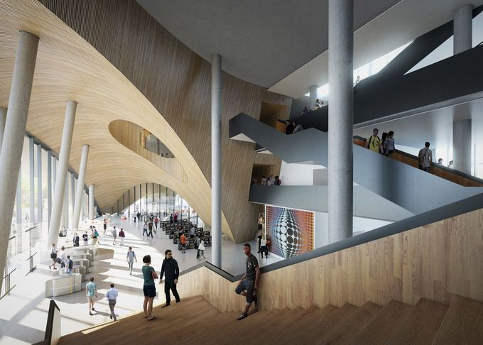 Snøhetta has released images of a new library it has designed for a Philadelphia university