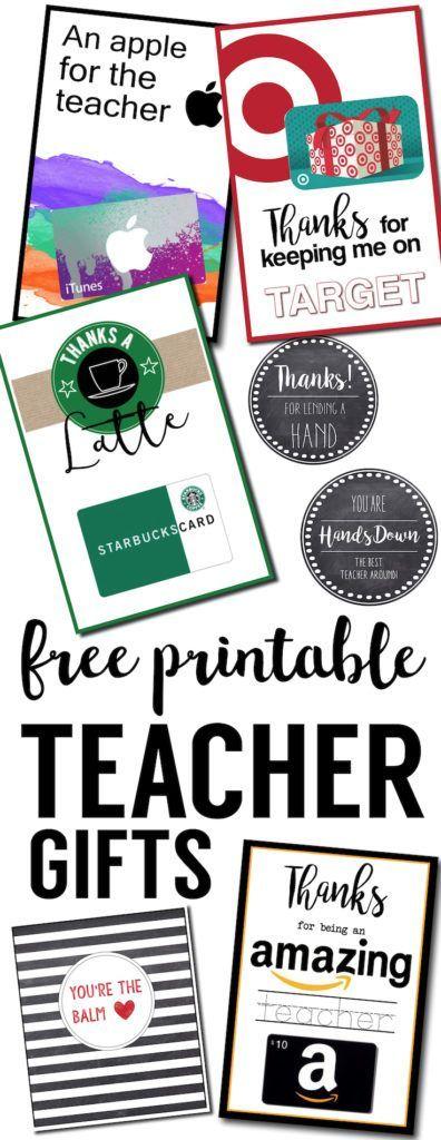 免费可打印教师感谢卡片的想法。 DIY便宜又轻松的老师欣赏礼品。好老师的礼物创意,教练礼物的想法,还有感谢卡片。