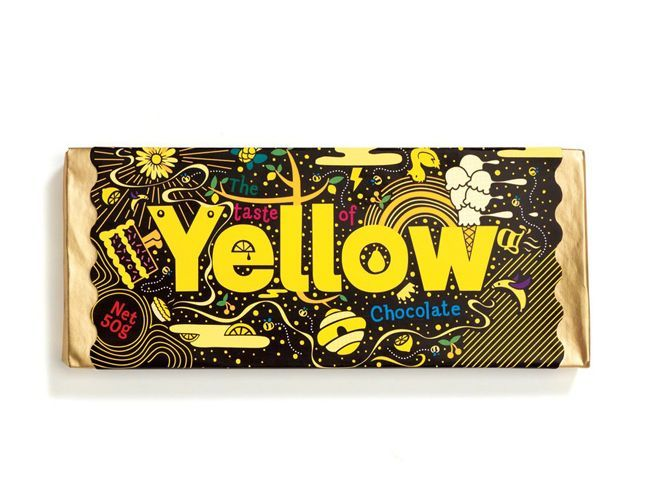 Taste of Yellow Chocolate | Packaging of the World: Creative Package Design Archive and Gallery