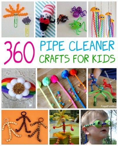 孩子们喜欢制作管道清洁工艺品,我们收集了360多个想法,让孩子们忙碌了好几个小时。
