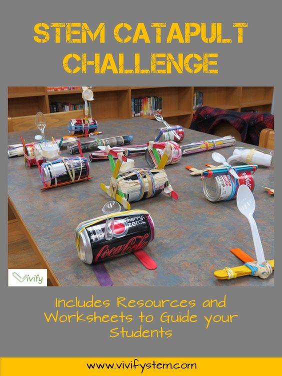 STEM弹射器挑战涉及工程学,几何学,比率,批判性思维和团队合作,这些都是学生们喜爱的参与活动!使用工程设计过程和数学技能,学生团队将使用常见材料制作两个弹射器设计。