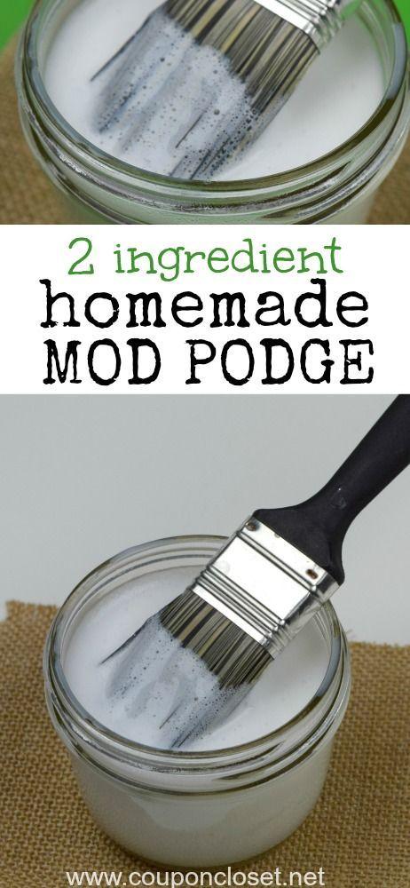 如何制作自制的mod podge  - 你必须尝试这个简单的自制mod podge配方只有2个简单的成分。很简单!