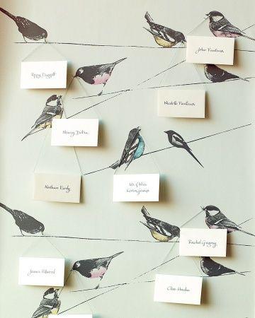 灵感|在电线护送卡持有人的鸟|通过:玛莎斯图尔特婚礼