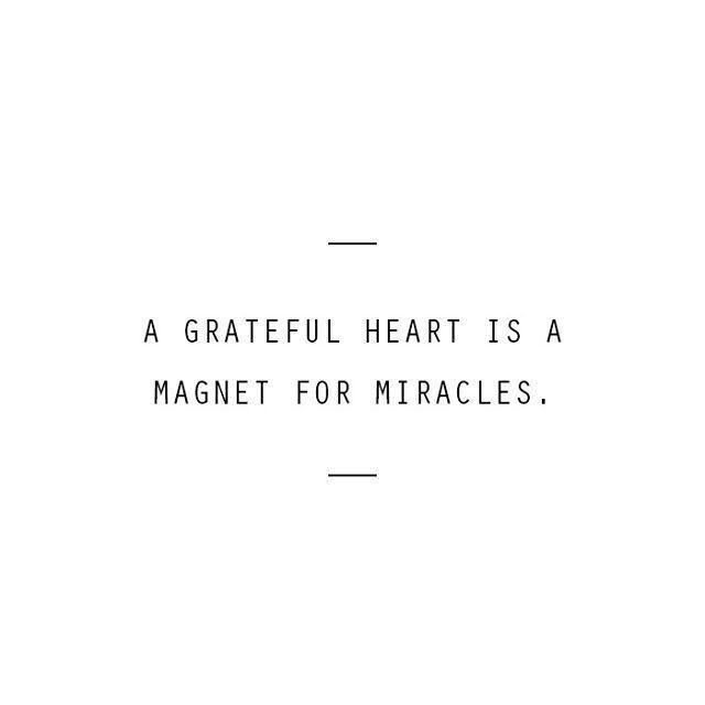 感恩的心是塑造奇迹的磁铁。