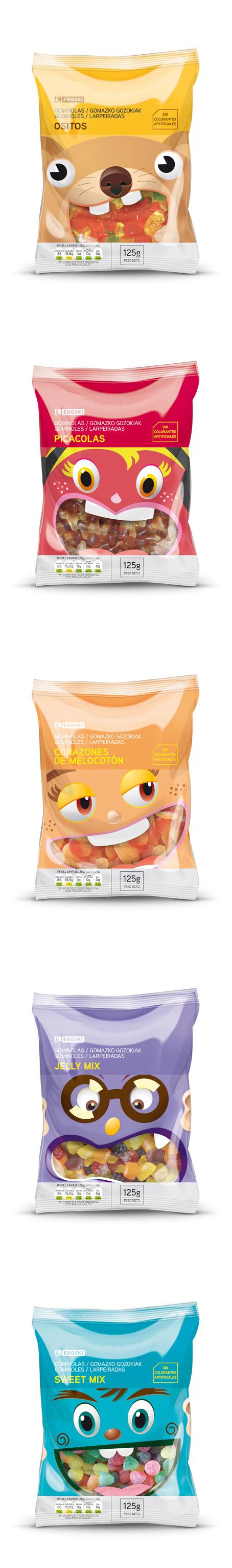 EROSKI snacks for the packaging smile file : ) PD