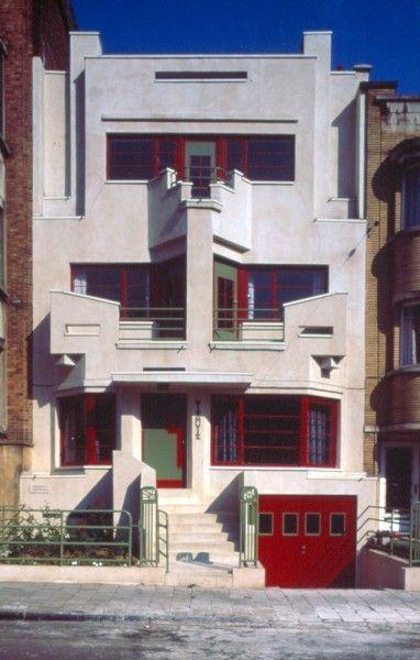 Image detail for -Art Déco, Withuis, av. Charles Woeste 183, Jette, 1927, architecte ...