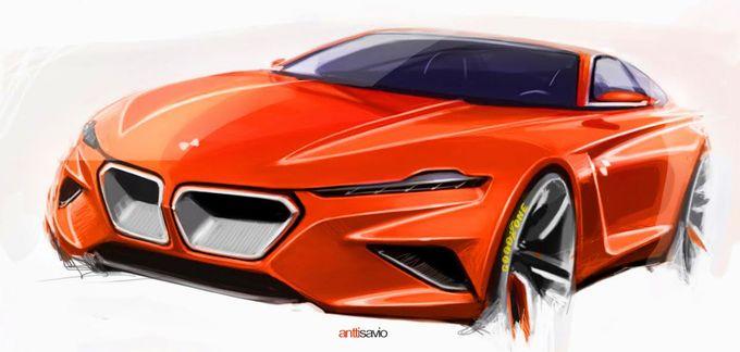 发条橙色BMW概念剪影