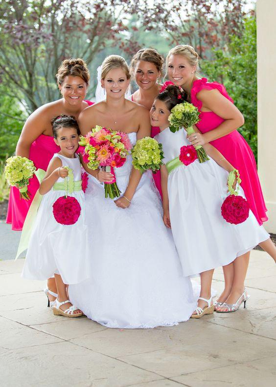 柠檬绿和粉红色马萨诸塞州婚礼|乔安娜和卡勒姆