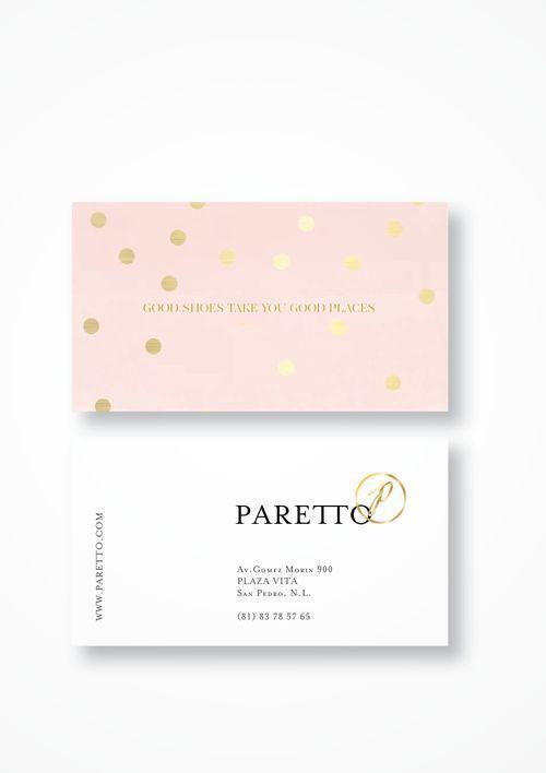 名片设计金箔和粉红色