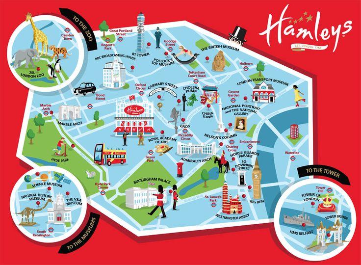 Hamleys children's map illustration kerryhyndman.co.uk