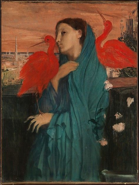 Edgar Degas (French, 1834-1917) | Young Woman with Ibis, c.1860-62) | Oil on Canvas | The Metropolitan Museum of Art