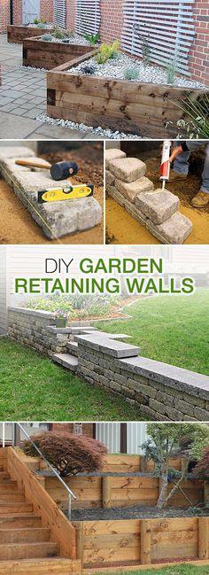 如果你的花园在任何一种斜坡上,可能花园挡土墙可能会使你的房产更加可用,并且更有价值。挡土墙阻挡土壤,在通常土壤,排水和通道较差的空间允许一个水平种植区域。建造这些DIY花园护墙之一!