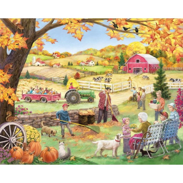 Countryside Autumn 1000 Piece Jigsaw Puzzle
