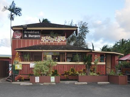 位于Nawiliwili的Kalapaki Beach Hut餐厅提供美味的早餐和世界着名的汉堡包。 Original Ono Char Burger的所有者。