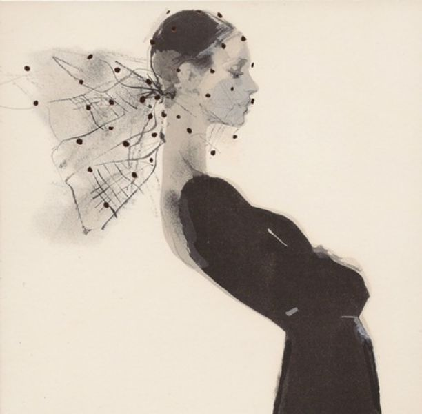 Veil by David Downton blank greeting card ADD-6