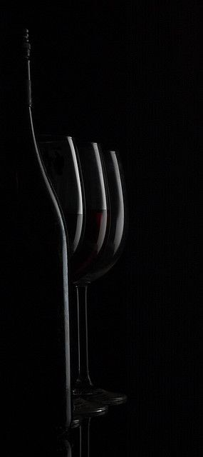 ✯ Wine Bottle and Glasses .. Photography David Kittos ✯