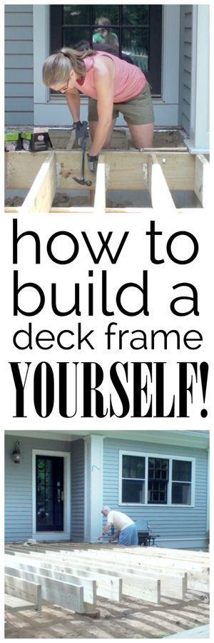 在照片和视频中的教程,详细介绍如何构建甲板框架 - 教程打破任何DIYer的过程!