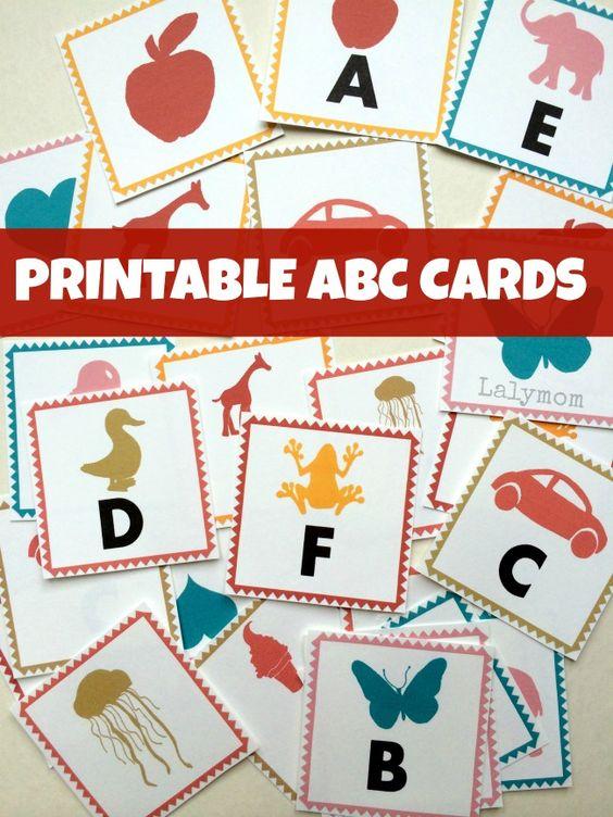 这些可爱的ABC字母可打印字母卡非常适合学习字母和玩字母游戏!