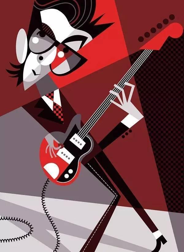 Elvis Costello by Pablo Lobato