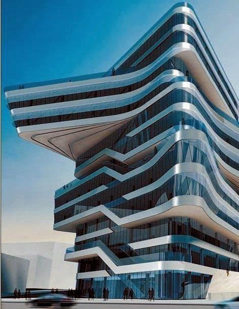 Spiral Tower :: Zaha Hadid in Barcelona
