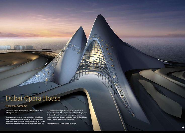 Futuristic Architecture, Dubai Opera House, UAE, Zara Hadid