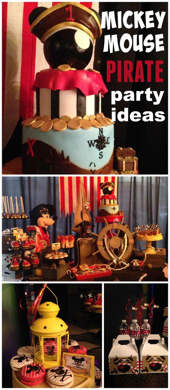 灵感Z的生日/米老鼠 - 米奇老鼠海盗在Catch My Party