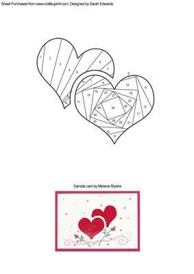 两个重叠心脏的虹膜折叠模式。这种模式将为情人节,婚礼或周年纪念等浪漫场合制作精彩的贺卡。