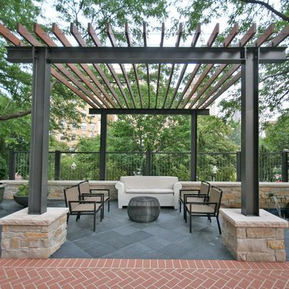 Steel beam and wood structure