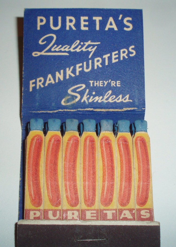MATCHBOOK PURETA SAUSAGE CO. SACRAMENTO CALIF. PD