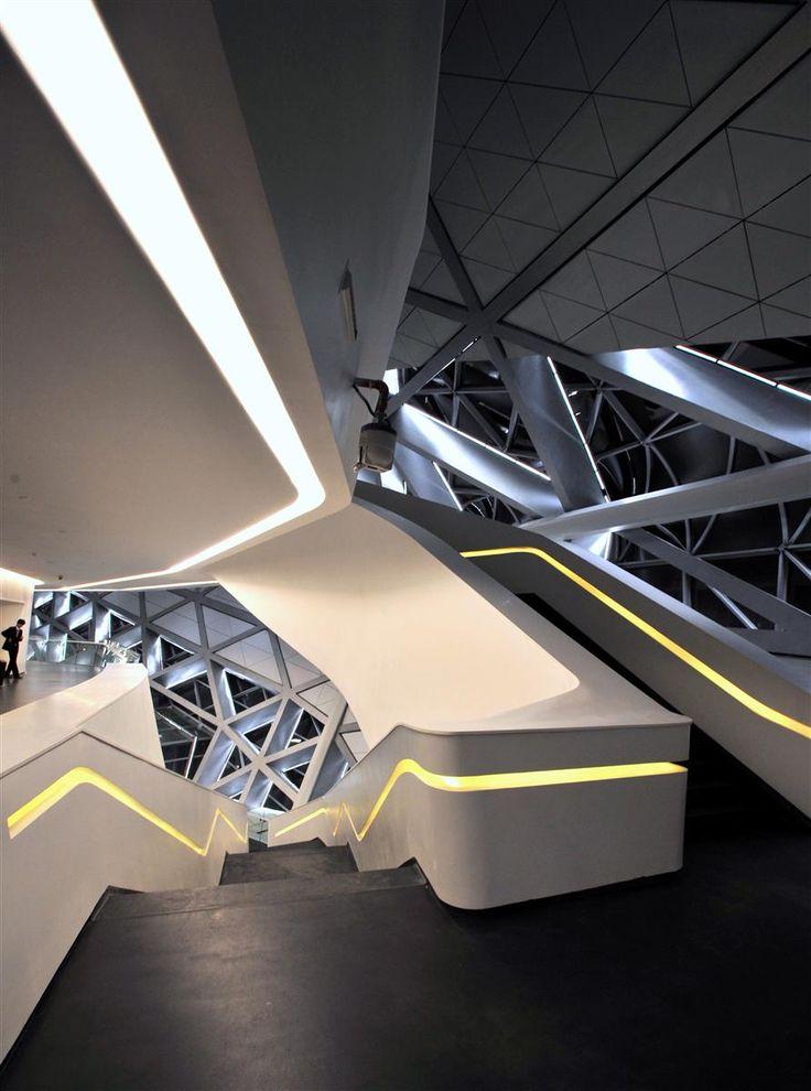 Zaha Hadid; Guangzhou Opera House, China
