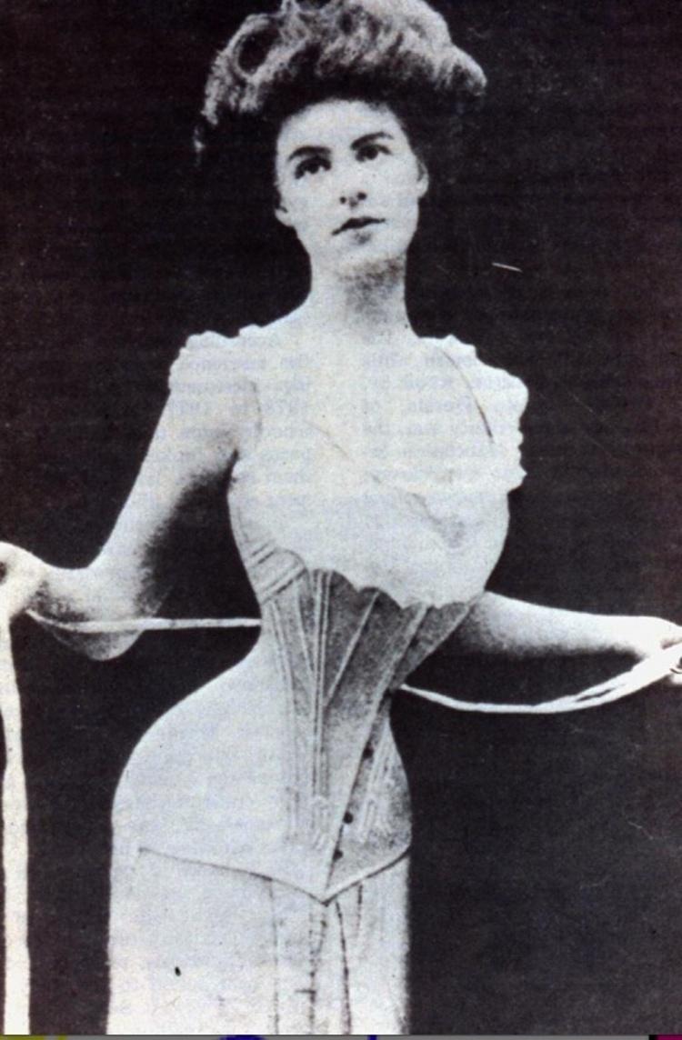 19世纪的女性紧身胸衣。