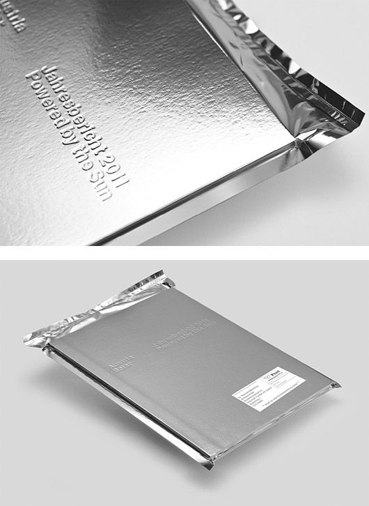 Silver Vacuum Packed Wrapping, Solar-Powered Annual Report, Serviceplan.