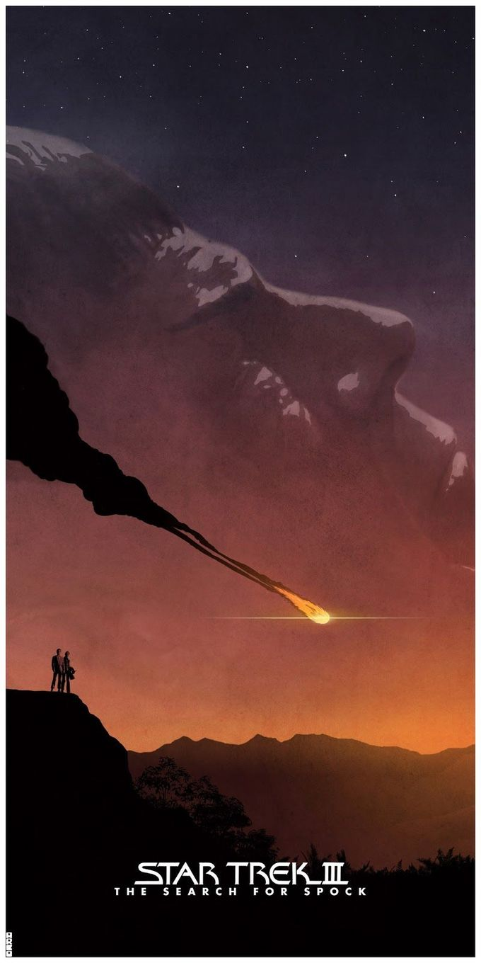 Star Trek III: The Search for Spock by Matt Ferguson. Not a favorite of the movies, but my favorite of these posters.