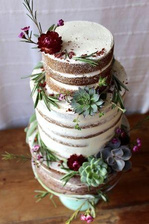 令人惊叹的裸蛋糕