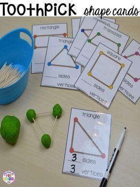 2D形状活动为学前班,前k和幼儿园。形状垫子(legos,geoboards等),玩面团垫,海报,排序垫,工作表,和更多。