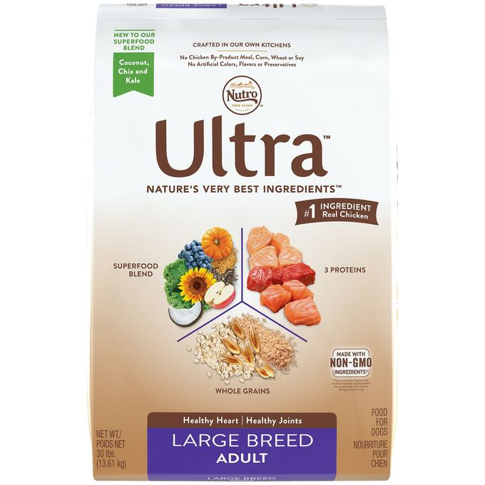 NUTRO ULTRA Large Breed Adult Dry Dog Food 1 30 Pounds bag; Supports a Healthy Heart and Joints; -1 Ingredient Real Chicken Rich in Nutrients and Full of Flavor -- You can find more details by visiting the image link. (This is an affiliate link) #BestDogFoods