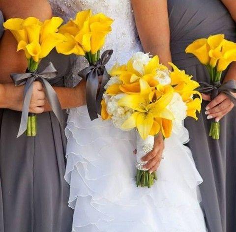 70春夏婚礼的灰色和黄色婚礼想法| HappyWedd.com