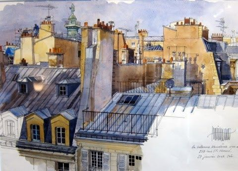 trackfindings: Water-colour Illustrations (Cityscapes)