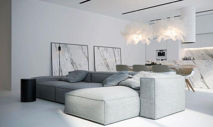白色的极简主义空间会让你忘记一切颜色