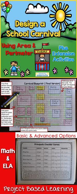 基于区域和周边项目的学习!在设计学校狂欢节期间,学生们可以尽情展示他们对地区和周边的数学知识。这个基于项目的学习资源主要围绕计划室外设计的学生