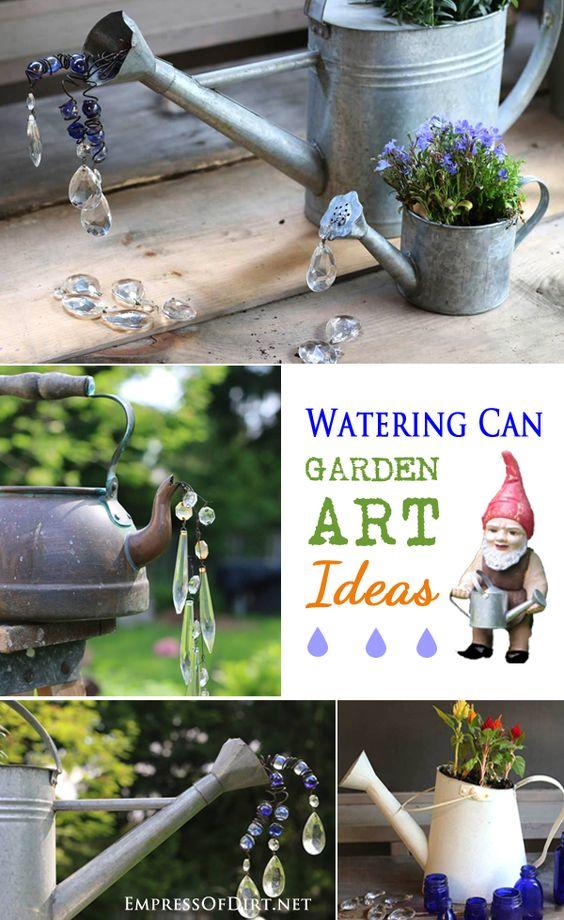 浇水可以为您的花园提供花园艺术创意,包括喷泉,醉人的花盆,花盆和人造溢水。